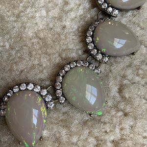 BaubleBar statement gray and crystal necklace